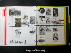 Free printable WWI timeline squares with books recommendations and web resources.