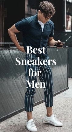 Here are the best sneakers that every man needs in his wardrobe. Best Sneakers, White Sneakers, Street Look, Street Wear, Best Gym Quotes, Sustainable Clothing, Sustainable Fashion, Herren Outfit, Stylish Men
