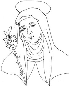 Catholic coloring pages. St. Catherine of Siena | Scribd
