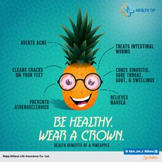 Pineapple is not only a great fruit; it is also a healthy supplement. Let's find out health benefits of this juicy fruit. #HealthTips