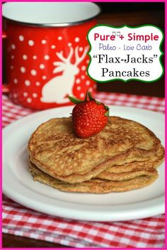 WIN, but I would definitely add the cinnamon for flavor - Flax Jacks Pancakes - paleo - low carb - keto - vegetarian