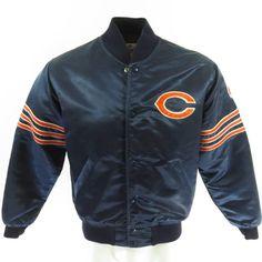 Vintage 90s Chicago Bears Starter Jacket Mens M Satin NFL Football Blue  Patch 0f5c42fd2