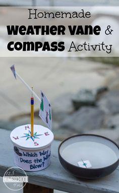Homemade Weather Vane & Compass Activity                                                                                                                                                     More