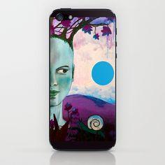blue moon iPhone & iPod Skin by Ninamelusina - $15.00