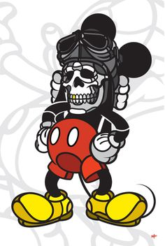 Deathead Mickey - art by David Flores