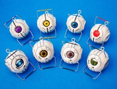 Wheatley / Portal Personality Core Necklace  Made by oxygenimpulse, $14.00