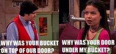"""We'll never know what came first: the bucket or the door? 