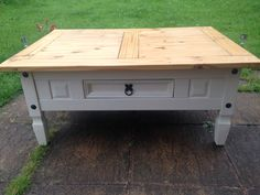 Shabby Chic Mexican Pine Coffee Table
