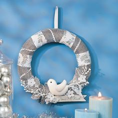 Peace on Earth Wreath - TerrysVillage.com