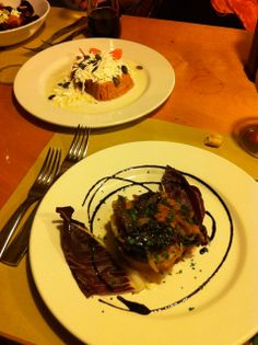 "delicacies like their signature ""Pumpkin flan with ricotta salata ..."