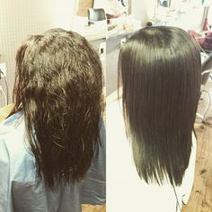 Looking fantastic~~~~ with Japanese straight perm.