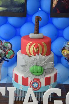 Avengers themed birthday party via Kara's Party Ideas The Cake