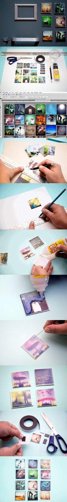 DIY Instagram magnets - these would make such a cute Mother's Day gift