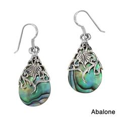 Floral Vine Ornate Teardrop Natural Shell .925 Silver Earrings (Thailand) - A floral vine of sterling silver en-wraps a teardrop shaped shell in this design. These earrings are a perfect addition for a vintage yet fashionable style.  http://www.overstock.com/Worldstock-Fair-Trade/Floral-Vine-Ornate-Teardrop-Natural-Shell-.925-Silver-Earrings-Thailand/8548655/product.html?CID=214117 CAD              37.56
