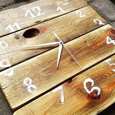 #clock #pallets #handmade #home #gifts #prettythings #wood #woodpallets