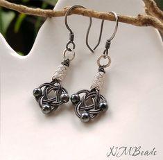 OOAK Jewelry Fine Silver Celtic Love Knot Earrings Authentic