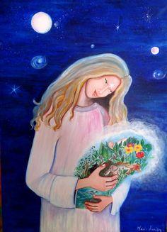 Peinture sur toile : Le Messager : Peintures par marie-lumiere