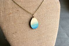 Ombre Jewelry Wood Jewelry  Teardrop Necklace  by TheSkinnyThicket, $16.99