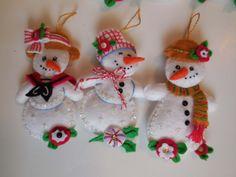 Finished Christmas Ornaments  Let It Snowman-SALE
