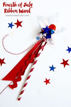 Fourth of July Ribbon Wand @SweetRoseStudio using the Fuse from @wermemorykeepers