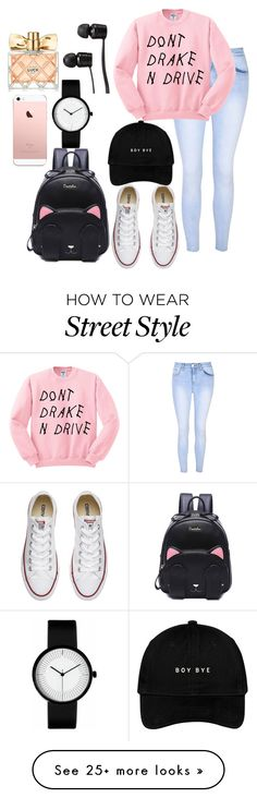 """""""street style"""" by happytwaimzlover on Polyvore featuring Glamorous, Converse, Avon and Vans"""