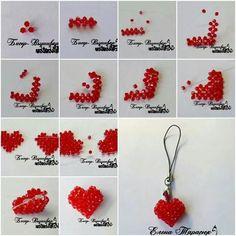 Beaded heart