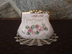 Pin Money Purse Piggy Bank Vintage by Vintage Vignettes, Vintage Antiques, Penny Bank, Money Box, Glass Ceramic, Antique Rings, 1950s, Etsy Seller, Purses