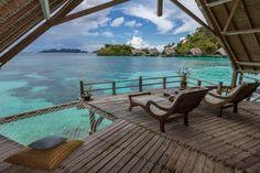 Misool Eco Resort: View from Water Cottage 8 veranda