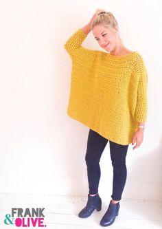 Frank&Olive Oversized Box Jumper #crochetpattern | Love Crochet