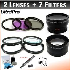 "NEW 40.5mm Deluxe Lens + Filter Bundle, Includes 2x Telephoto Lens + 0.45x HD Wide Angle Lens w/Macro + 3-piece Filter Kit (UV, CPL, FL-D) + 4-Piece Close-Up Filter Kit (+1, +2, +4, +10) + Lens Cleaning Pen + Lens Cap Keeper + UltraPro Deluxe Lens Cleaning Kit. For The Olympus PEN E-PL1, E-PL2 Digital Cameras Which Have The ZUIKO Digital ED 14-42mm f3.5 - 5.6 ""Micro"" 4/3 Zoom Olympus .... $59.95. This High-Definition Wide-Angle Lens dramatically increases your w..."
