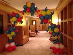 Cat In the Hat balloon arch. Cat in the hat themed cake table decoration.  http://www.dreamarkevents.com/ #Dr.Seuss #catinthehat #party #kidsparty #decoration #draping #centerpiece #partydecoration #ballooncolumns #balloonarch #balloondecoration #Themedparty #parkpavilion #parkdecoration #Kidsentertainment #thingone #thingtwo #drsuess #partydecoration #partyplaner #fortlauderdale #miami #bocaraton #palmbeach