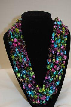 49 Best Ladder Yarn images in 2013   Crochet, Yarn necklace