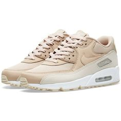 buy popular 718a5 738f7 Nike Air Max 90 Essential (€200) ❤ liked on Polyvore featuring shoes, nike,  sand shoes, genuine leather shoes, air cushion shoes and real leather shoes