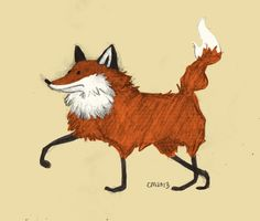 Awkward Fox Art Print