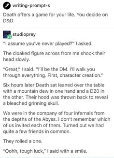 D&D writing prompt - Imgur