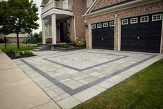 Curb appeal in Milton,Ontario House Landscape, Landscape Design, Milton Ontario, Driveway Landscaping, Backyard, Patio, Curb Appeal, New Homes, Exterior