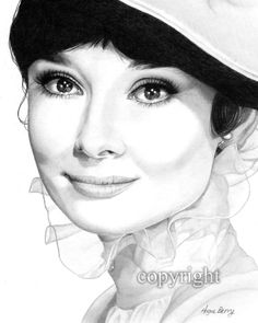 I love this drawing of Audrey Hepburn! Someday I will be this good.