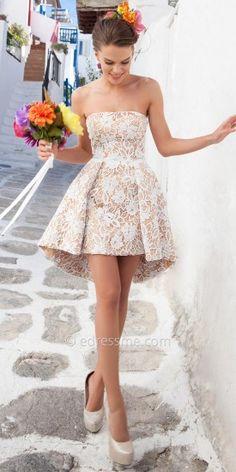Irina Cocktail Dresses by Tarik Ediz #dresses #straplessdresses #strapless #designer #fashion #shortdress #beautiful #edressme #designerdresses #style