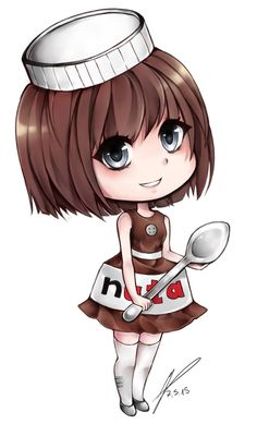 keychain nutella by Yokuna-chan on DeviantArt Girl Drawing Pictures, Girly Pictures, Anime Drawings Sketches, Girly Drawings, Nutella Mini, Star Butterfly Outfits, Scrapbook Recipe Book, Chibi Food, Tumblr Boys