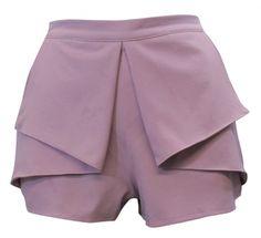 Lilac frill dressy shorts- summer wear- womens clothing- love online fashion
