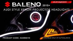 Maruti Suzuki Baleno Projector Headlight is an incomparable product to any other headlights. Custom Headlights, Projector Headlights, Aftermarket Headlights, Hidden Projector, Devil Eye, Audi, Pure Products, Crystals, Cool Stuff