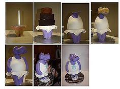 3D hippo cake