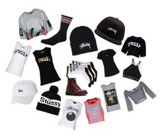 """""""Fave brand💕👌🏽 Stüssy😘"""" by tho0134 on Polyvore featuring Dr. Martens and Stussy"""