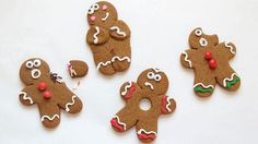 These misbehaving gingerbread men will add some laughs to this year's cookie platter!
