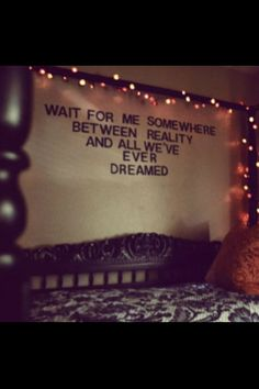 Love the quote and lights!