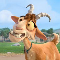 We absolutely love Lupe from the movie Ferdinand! Ferdinand Movie, Ferdinand The Bulls, Disney Kunst, Disney Art, Walt Disney, Funny Emoji Faces, Blue Sky Studios, Goat Art, Cute Cartoon Wallpapers