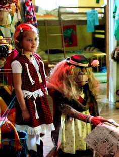 """Drew Barrymore in """"E.: The Extra-Terrestrial"""" DIRECTOR: Steven Spielberg. // cute cowgirl costume for the young Drew as Gertie n ET dressed as an old lady. 80s Movies, Great Movies, I Movie, Movie Stars, Drew Barrymore, Martin Scorsese, Alfred Hitchcock, Stanley Kubrick, Movies Showing"""