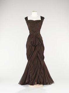 Evening Dress/Jean Dessès, 1960... Possible wedding dress and maybe halter instead??? Hhhhmmmm