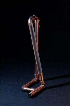 Copper lamp, Industrial lamp, DIY lamp, Copper pipe, Copper lamp, Loft Industrial Style Lamps, Industrial Desk, Copper Lamps, Steampunk Lamp, 12v Led, Copper Tubing, Led Desk Lamp, Loft Style, Night Light