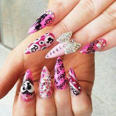 Barbie Nail art
